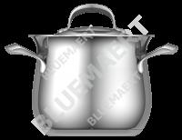 Кастрюля с крышкой EVA 6,1 л.