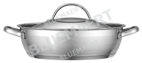 Сотейник с крышкой Emex 2,7 л. Матовая полировка в центре
